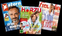 Bild von drei Zeitschriften