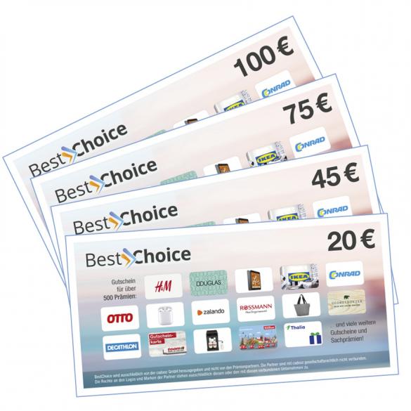 Best-Choice-Gutschein   als Prämie für Ihr Zeitschriften-Abo