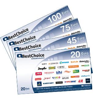 130 € BestChoice Gutschein   als Prämie für Ihr Zeitschriften-Abo