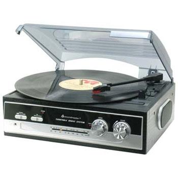 Plattenspieler PL 186 mit Radio, schwarz/silber   als Prämie für Ihr Zeitschriften-Abo