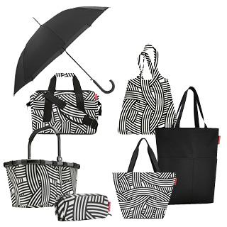 Taschenset mit Schirm, zebra, 7-tlg.   als Prämie für Ihr Zeitschriften-Abo