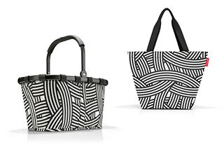 Taschenset, zebra, 2-tlg.   als Prämie für Ihr Zeitschriften-Abo