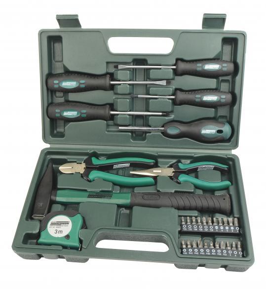 MANNESMANN Werkzeugkoffer, 31-tlg. (P811H)   als Prämie für Ihr Zeitschriften-Abo
