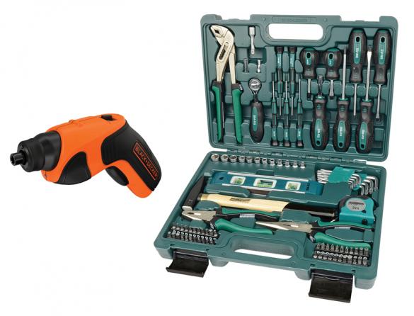 Werkzeugkoffer + Akkuschrauber   als Prämie für Ihr Zeitschriften-Abo