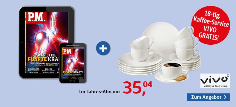 00002_P.M. Magazin E-Papier + Kaffeeservice, 28-tlg. vivo