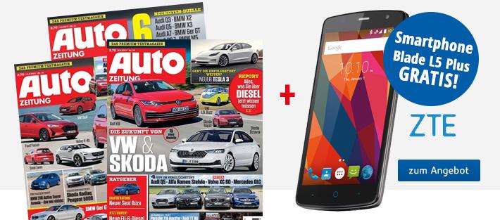 Auto Zeitung + Smartphone