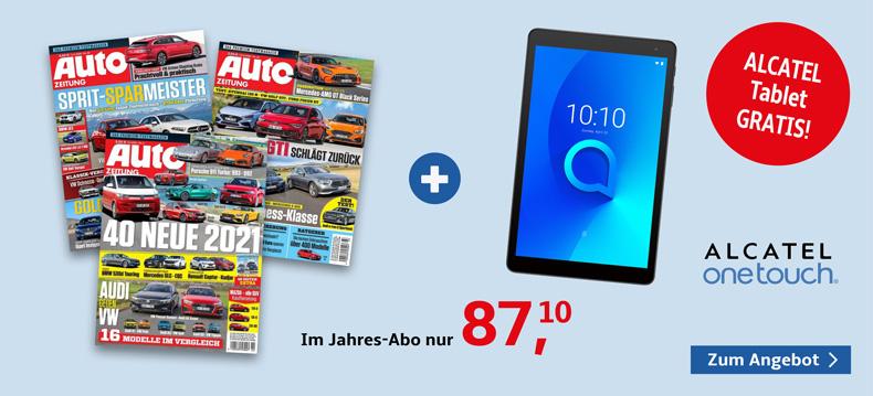 3_Auto Zeitung + alcatel Tablet