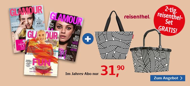 00006_Glamour + reisenthel Taschenset zebra, Carrybag + Shopper M